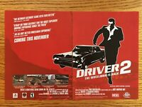 Driver 2 PS1 Playstation 1 2000 Vintage Poster Ad Print Art Rare Retro Promo