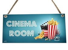 Cinema Room Movie Dvd Wooden Novelty Plaque Sign Gift fcp8
