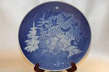 "Bing Grondahl Blue Jule After 1981 Annual Collector 7"" Plate Christmas Peace"