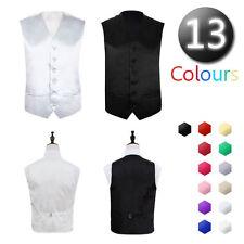 "Mens Wedding Formal Waistcoat Size 36""- 48"" Chest Available S M L XL XXL XXXL"