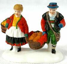 Dept 56 Alpine Village - Buying Bakers Bread 56197 Single Couple Figure New