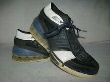 Adidas Bounce Men Sz 10 Black Blue White Leather Athletic Sneakers Shoes