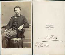 Henri Pronk, La Haye, Mr Hoek Vintage CDV albumen carte de visite. CDV, ti