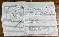 1955 Murfreesboro Battery & Electric 408 W College St TN Tennessee Paper Receipt