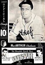 1947 SYRACUSE CHIEFS OFFICIAL SCORECARD SCOREBOOK vs.Rochester Red Wings 6-6-47