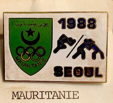 1988 Seoul  Olympic Team Pin NOC Mauritania (Mauritanie) wrestling!