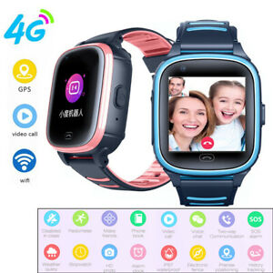Kinder Smartwatch 4G Anruf Telefon Uhr Kamera Wifi GPS SOS für Android iOS
