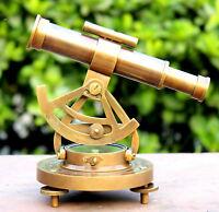 Solid Brass Alidade Maritime Telescope Nautical Astrolabe Ship Working Compass