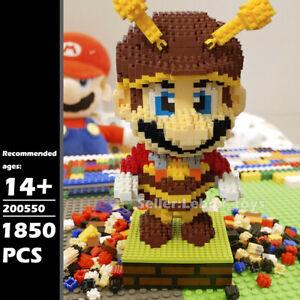 Building Blocks Bee Super Mario Diamond Micro Bricks Kids Adult DIY Toys 1850PCS