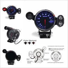 12V Tachometer Gauge Kit Blue LED Car SUV Meter w/Shift Light Stepping Motor RPM