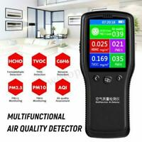 8In1 Air Quality Monitor PM2.5/ PM10 Formaldehyde HCHO TVOC LCD Digital Detector
