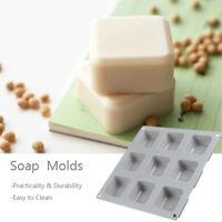 9 Gitter Quadratische Silikonseifenformen Handgemachte Seife für DIY Seifenherst