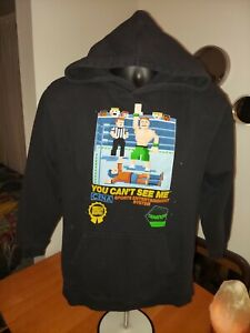 """John Cena Hoodie Youth Large """"You Cant See Me"""" WWE WWF Wrestling Cenation 2008"""