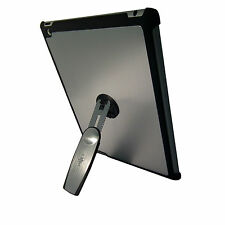 iPad 3 Silver Quality Aluminium Hard Back Case Cover With 360 Rotation Stand