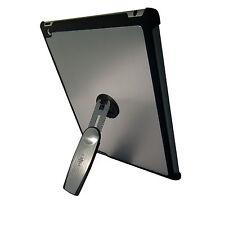 Ipad 3 De Plata Calidad De Aluminio Duro posterior Funda Con 360 soporte de rotación