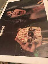 "1986 Heavy Metal Heroes Huge 2-sided Poster/W ""Wasp�- ""Ratt� 20-1/2x31"