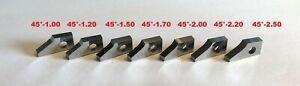 E2  Set of 7 Valve seat cutting carbide tip bit,SERDI NEWEN ROTTLER SUNNEN