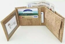 iNature Mens Cork Wallet Vegan Portuguese Eco-Friendly Natural Slim Card Holder