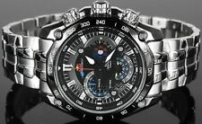 Import Casio Edifice EF-550D-1AVDF(EF-550BRB) Black Dial Red Bull Men's Watch