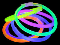 GLOW BRACELETS 8 INCH GLOW STICKS WITH FREE GLOW BALL CONNECTORS