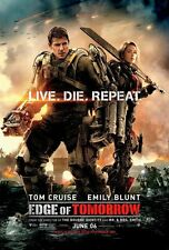 EDGE OF TOMORROW MOVIE POSTER 2 Sided ORIGINAL Ver B 27x40 TOM CRUISE