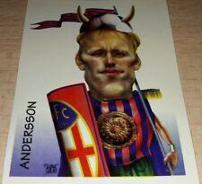 FIGURINA CALCIATORI PANINI 1997/98 CARICATURE ANDERSSON ALBUM 1998