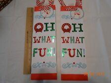 New lot 2 pretty glitter Hallmark Christmas wine liquor gift bags Oh What Fun!