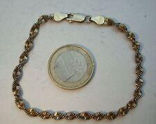 B12 Bracelet maille torsadée Argent Massif 925 vermeil bijou lot vintage