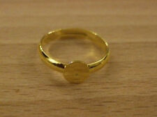 Great quality ring blanks with pad gold metal for cabochons x10 UK seller OS48