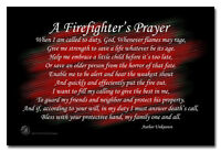 A Firefighter's Prayer A Fireman's Prayer 8x12 Inch Aluminum Sign