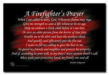 A Firefighter's Prayer A Fireman's Prayer 8x12 Inch Aluminum Sign