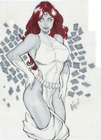 Mystique by Leo (12x17) - Original Pinup Comic Art