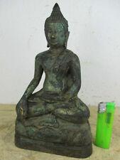 Betagter Buddha, vieja bronce de Siam Alt-Tailandia desde 1970 en colección 24cm