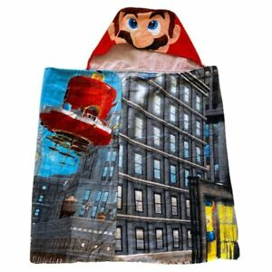 Super Mario Hooded Bath Towel Move The Globe