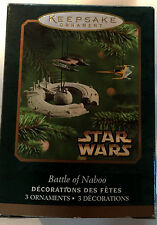 Star Wars Battle of Naboo Set of 3 mini Hallmark Christmas Ornaments QXM5212