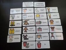 23 Antonym Flash Cards.  Educational learning activity for children. Opposites.