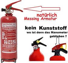 NEU OVP  2 kg  ABC Auto Feuerlöscher EN 3 + Manometer + Drahthalter / Kfz Halter