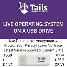 Tails 3.6 Bootable 16GB USB TOR Browser Secure Linux Leave No Trace Persistence