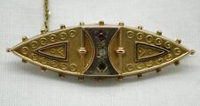 Victorian 9ct Gold Ruby And Diamond Set Locket Brooch