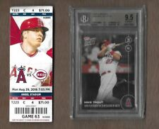 2016 Topps Now #409~Mike Trout~BGS 9.5 w/ Game stub