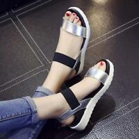 New Fashion Summer Women Sandals Flat Casual Leather Comfortable Ladies Shoes