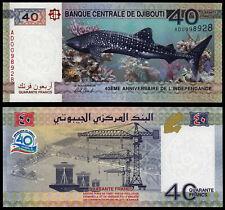 DJIBOUTI 40 FRANCS (P NEW) 2017 COMMEMORATIVE ISSUE UNC