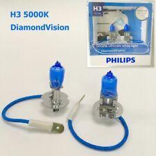 Genuine PHILIPS H3 DiamondVision 5000K White 12V55W Halogen Light Bulb x2 #EWgtc