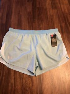 Under Armour Women's Running Training Shorts Loose Fit Large Blue New With Tags