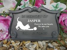 Personalised Cat Memorial - Weatherpoof - Playing with wool