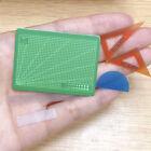 6pcs/set 1:12 Scale Dollhouse Miniature Cutting Mat Scissor Ruler Ac.PI