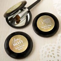 75 Personalized Black Compact Mirror Wedding Bridal Shower Party Gift Favors