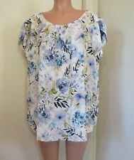 PAPERMOON MULTI-COLOR FLORAL PRINT BASTILLE TULIP SLEEVE PULLOVER TOP, 3 X