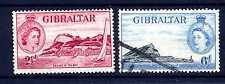 GIBILTERRA - 1953 - Vista di Gibilterra e regina Elisabetta II. E5310