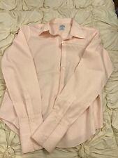 brooks brothers womens blouse 10 ladies pink shirt EUC